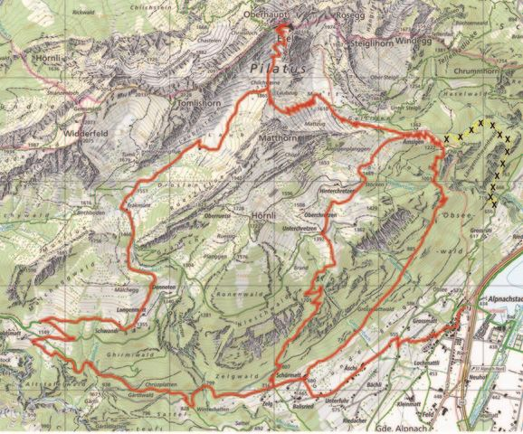 Bergwanderweg Alpnachstad-Ämsigen